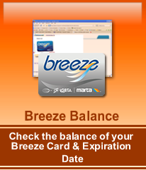 Click here to check the balance of your breeze Card/Ticket